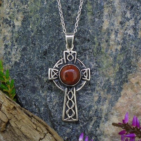 Lewisian Celtic Cross Sterling Silver Pendant