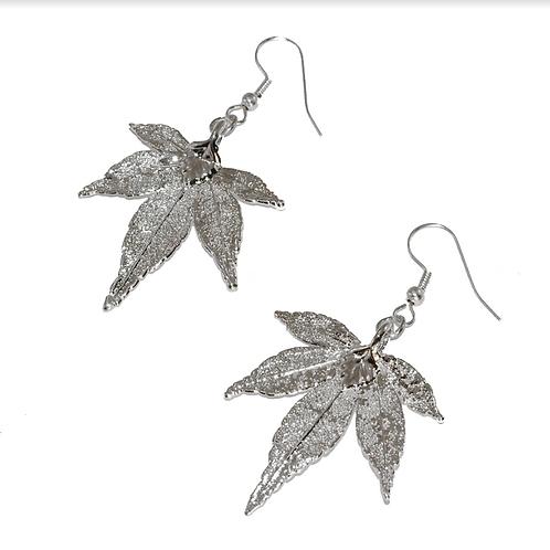 Japanese Maple Silver Earrings