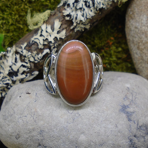 Scottish Agate Sterling Silver Celtic Ring