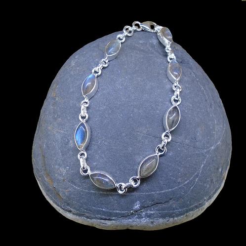 Labradorite Sterling Silver Adjustable Bracelet
