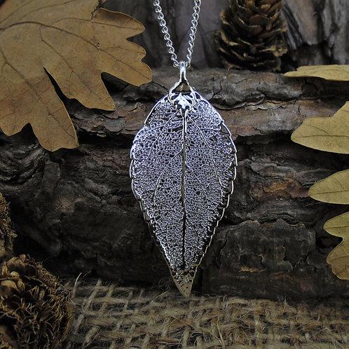 Laurel Leaf Pendant - Silver (Medium)