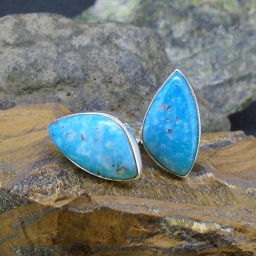 Kingman Turquoise Sterling Silver Cufflinks