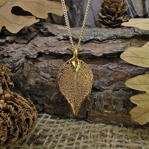 Laurel Leaf Pendant - Gold (Small)