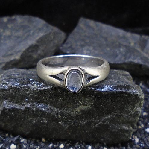Moonstone Satin Finish Sterling Silver Ring
