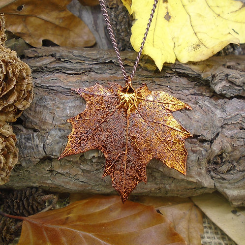 Canadian Maple Leaf Pendant - Red Copper