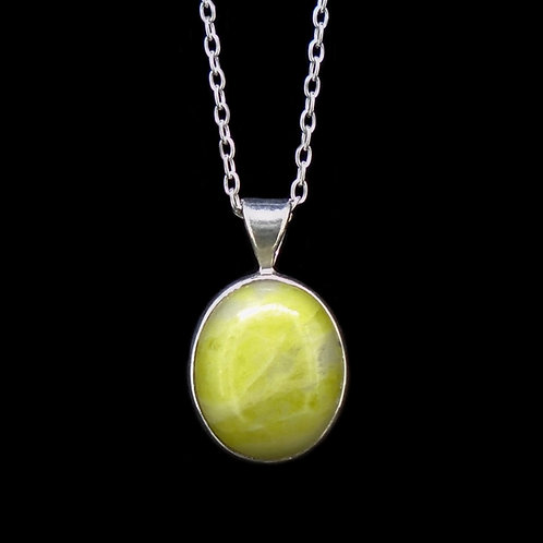 Oval Sterling Silver Pendant (Petite)