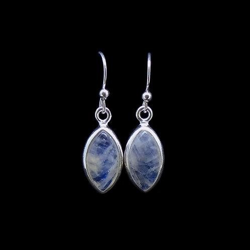 Moonstone Sterling Silver Marquise Earrings