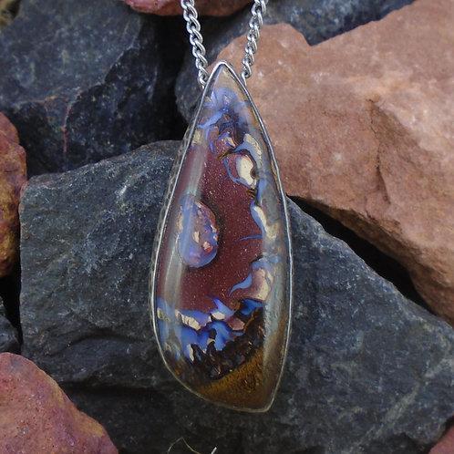 Australian Koroit Opal Sterling Silver Pendant