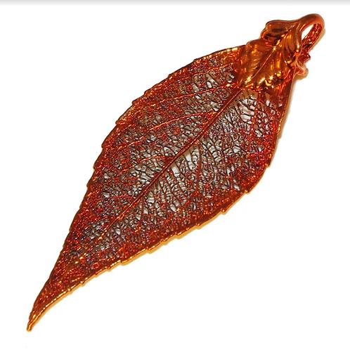 Laurel Red Copper Pendant