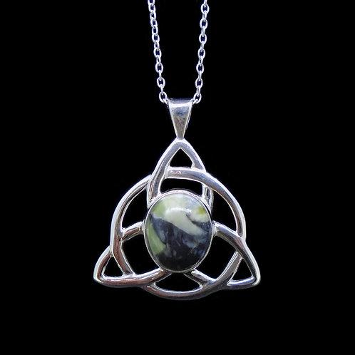 Skye Marble Celtic Knot Sterling Silver Pendant
