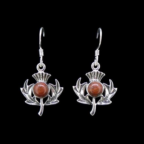 Lewisian Sterling Silver Thistle Earrings