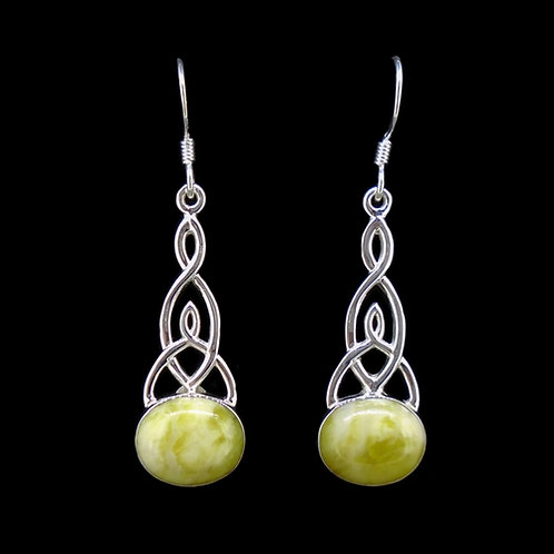 Highland Marble  Sterling Silver Celtic Earrings