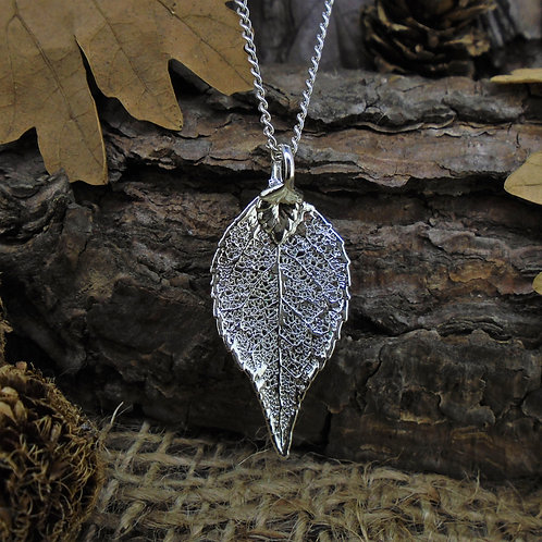 Laurel Leaf Pendant - Silver (Small)