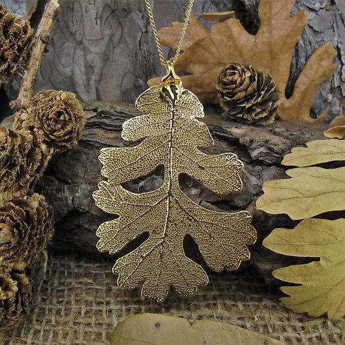 Oak Leaf Pendant - Gold (Large)