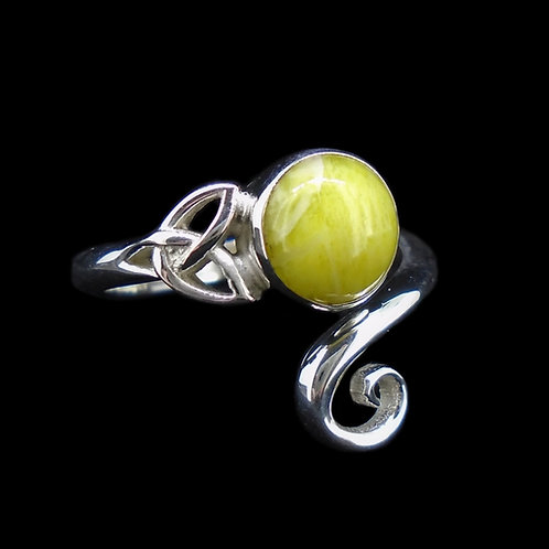 Highland Marble Celtic Knot Sterling Silver Ring