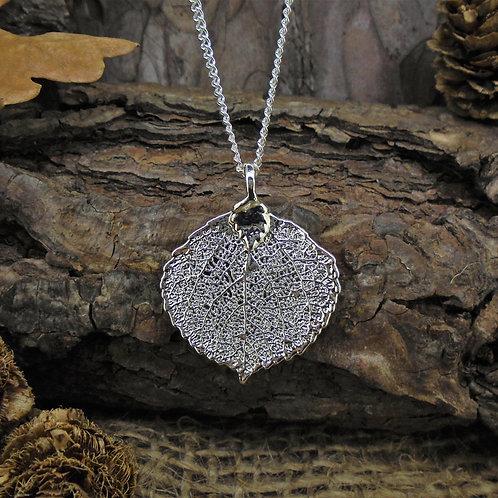 Aspen Leaf Pendant - Silver (Small)