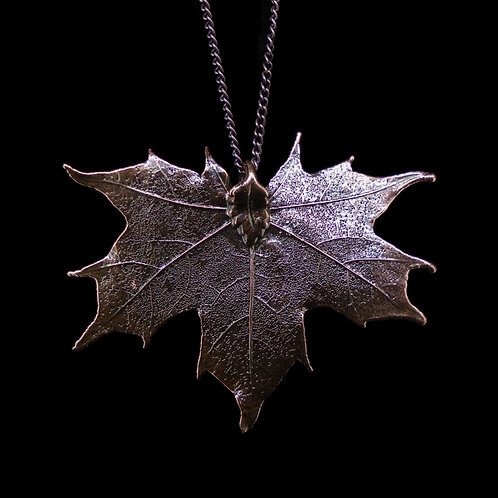 Canadian Maple Leaf Pendant - Antique Copper