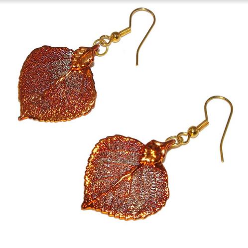 Aspen Red Copper Earrings