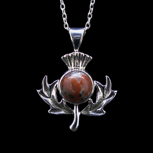 Lewisian Sterling Silver Thistle Pendant