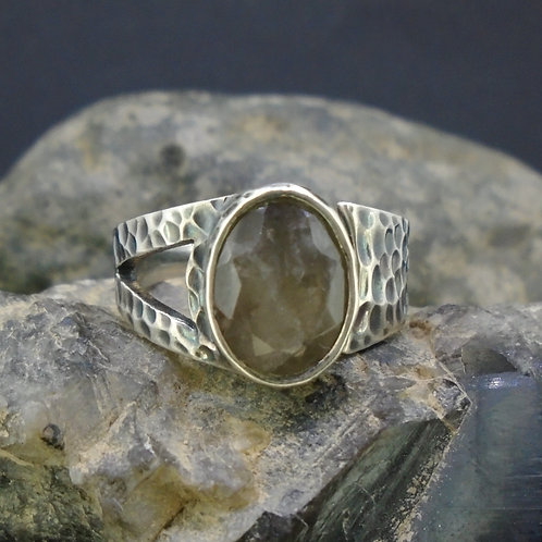 Cairngorm Smoky Quartz Sterling Silver Ring