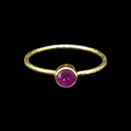 Pink Sapphire 18ct Solid Gold Ring