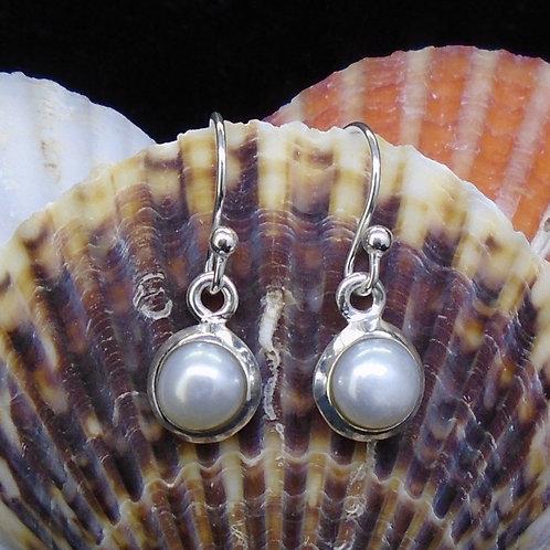 Pearl Sterling Silver Drop Earrings