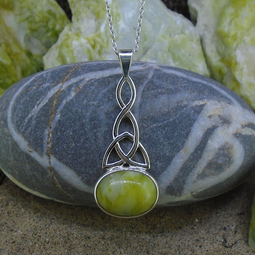 Large Celtic Trinity Knot Sterling Silver Pendant