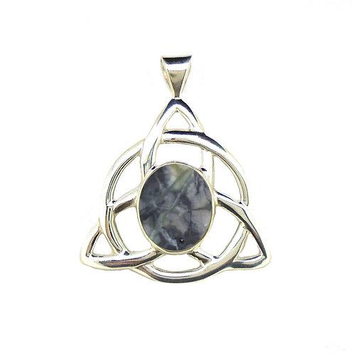 Skye Marble Celtic Triquetra Pendant