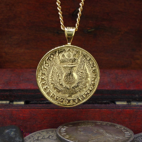 Bawbee Coin 24ct Gold Plated Sterling Silver Pendant