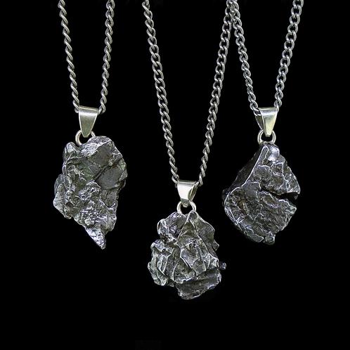 Meteorite Pendants - Sterling Silver Bails