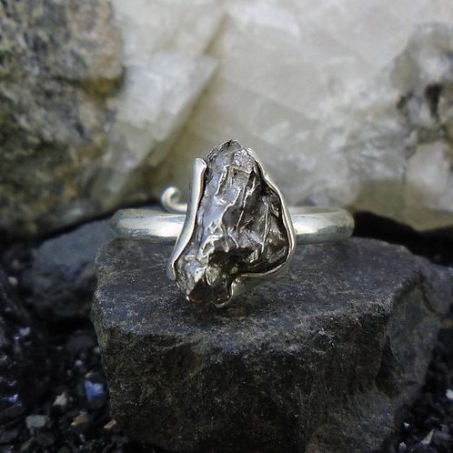 Meteorite Adjustable Sterling Silver Ring