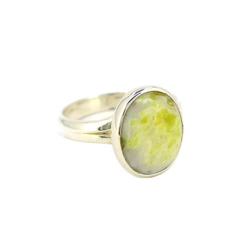Iona Marble Small Oval Ring
