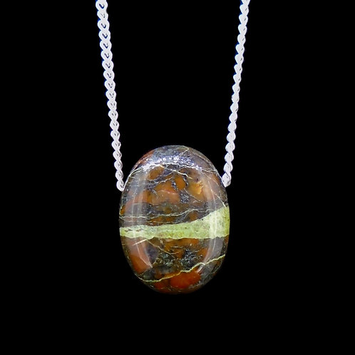 Lewisian Pebble Pendant with Sterling Silver Chain