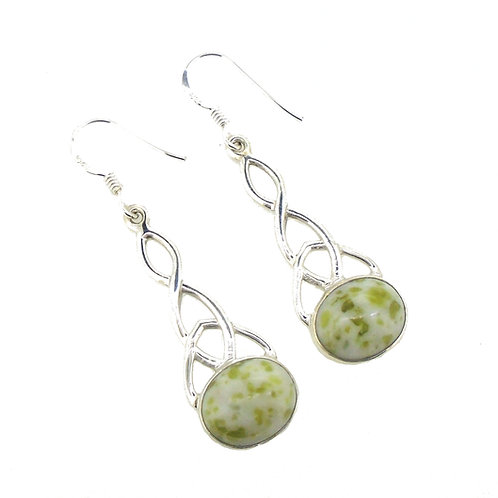 Iona Marble Large Celtic Trinity Earrings