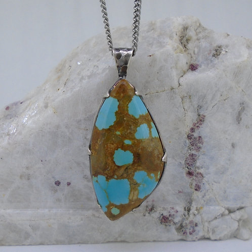 Rare #8 Mine Turquoise Sterling Silver Pendant