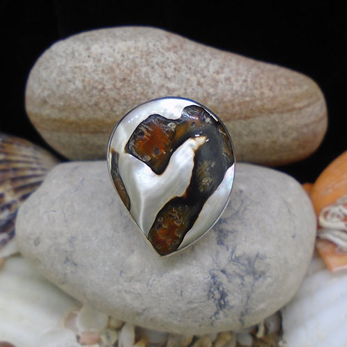 Turbo Shell Sterling Silver Ring