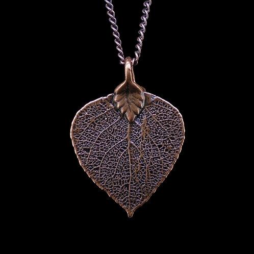 Aspen Leaf Pendant - Antique Copper