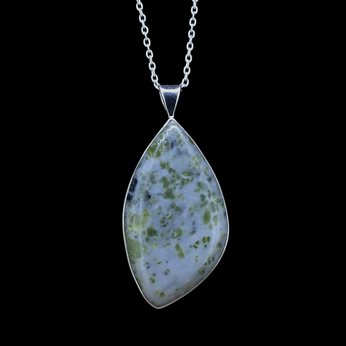 Iona Marble Sterling Silver Pendant