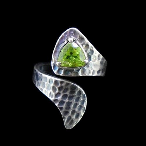 Peridot Sterling Silver Wrap Ring