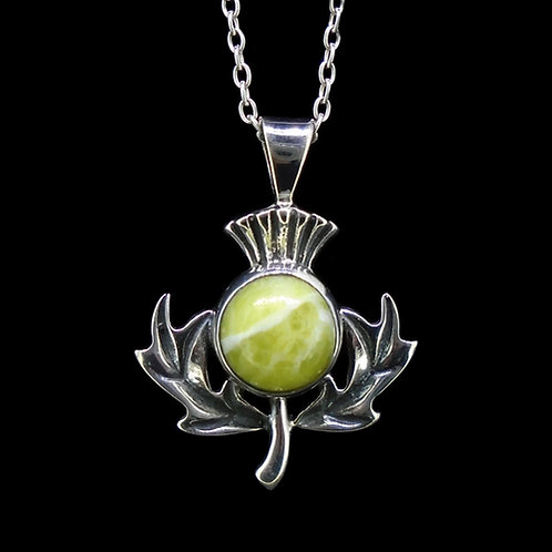 Scottish Thistle Sterling Silver Pendant