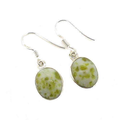 Iona Marble Small Oval Earrings