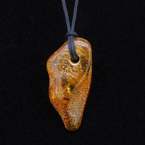 Baltic Amber Corded Pendant