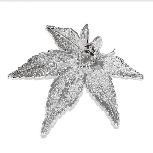 Japanese Maple Silver Pendant