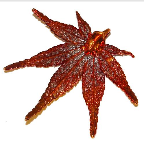 Japanese Maple Red Copper Pendant