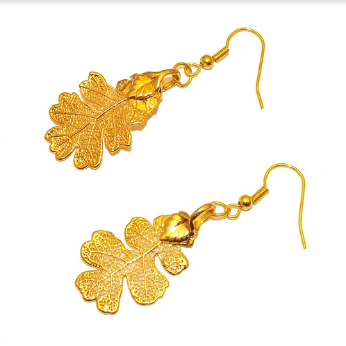 Oak Gold Earrings