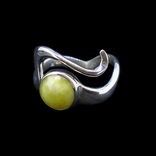 Highland Marble Wave Crest Sterling Silver Ring