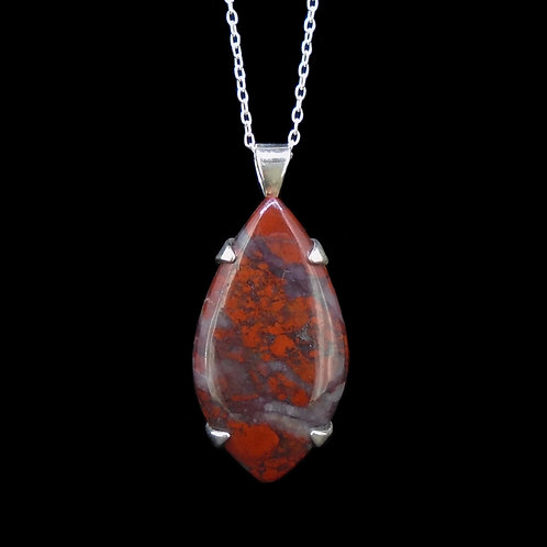 Scottish Red Jasper Sterling Silver Pendant