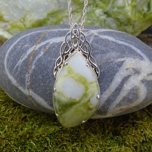 Celtic Waterfall Sterling Silver Pendant