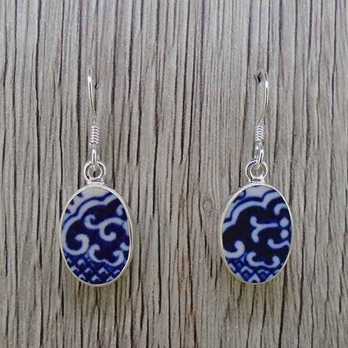 Old Willow 'Wave' Sterling Silver Earrings