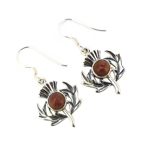 Lewisian Scottish Thistle Earrings